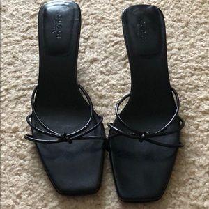 Gucci bamboo heel sandal
